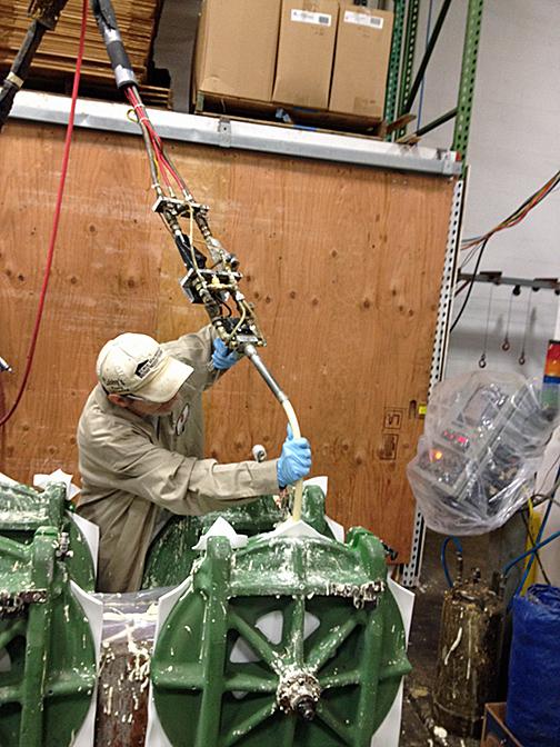 Marine Industry /Automatic Urethane Foam Dispensing Gun